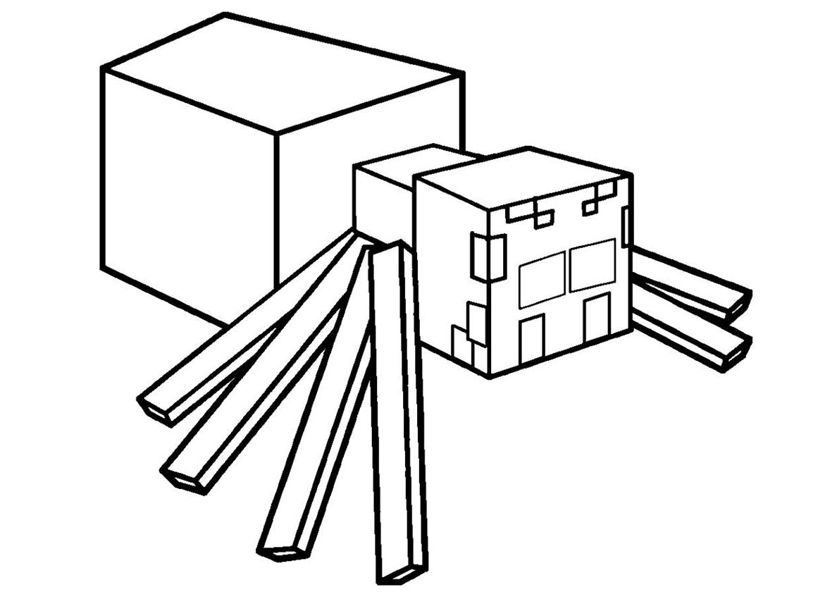 minecraft spider coloring pages 37 best of images of minecraft spider coloring page pages coloring spider minecraft