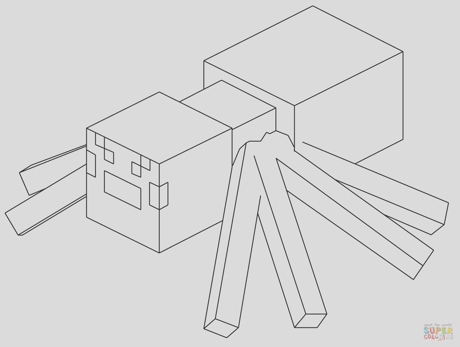 minecraft spider coloring pages 37 best of images of minecraft spider coloring page spider coloring minecraft pages