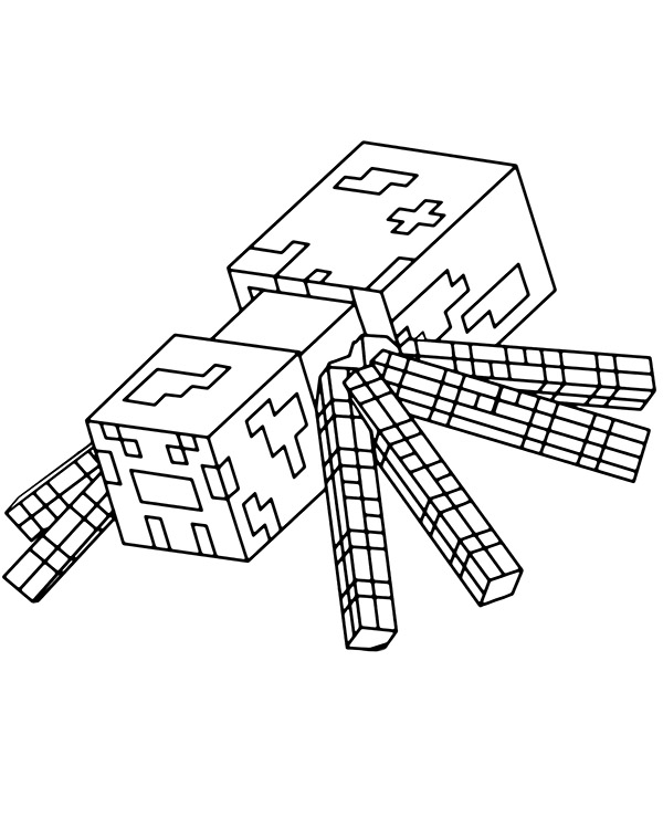 minecraft spider coloring pages cave spider minecraft printables free minecraft pages minecraft spider coloring