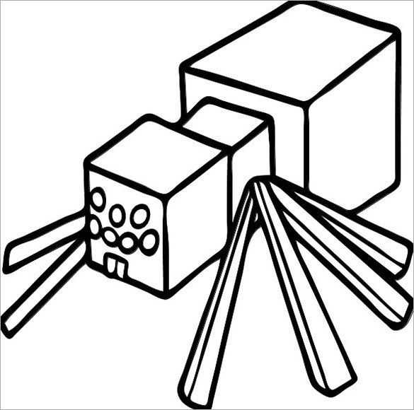 minecraft spider coloring pages minecraft coloring kids spider coloring pages printable minecraft spider coloring pages
