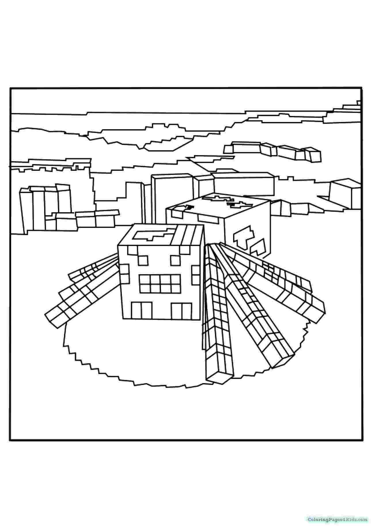 minecraft spider coloring pages minecraft coloring pages spider coloring pages for kids spider coloring minecraft pages