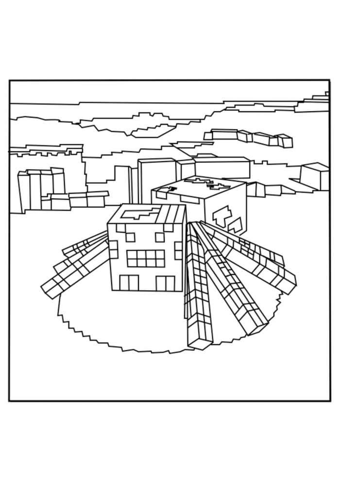 minecraft spider coloring pages minecraft spider coloring page coloring pages spider minecraft