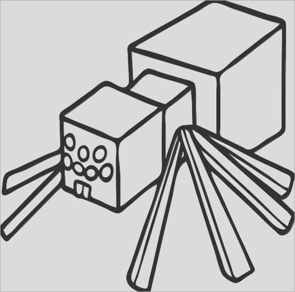minecraft spider coloring pages minecraft spider coloring page minecraft spider drawing at minecraft coloring spider pages