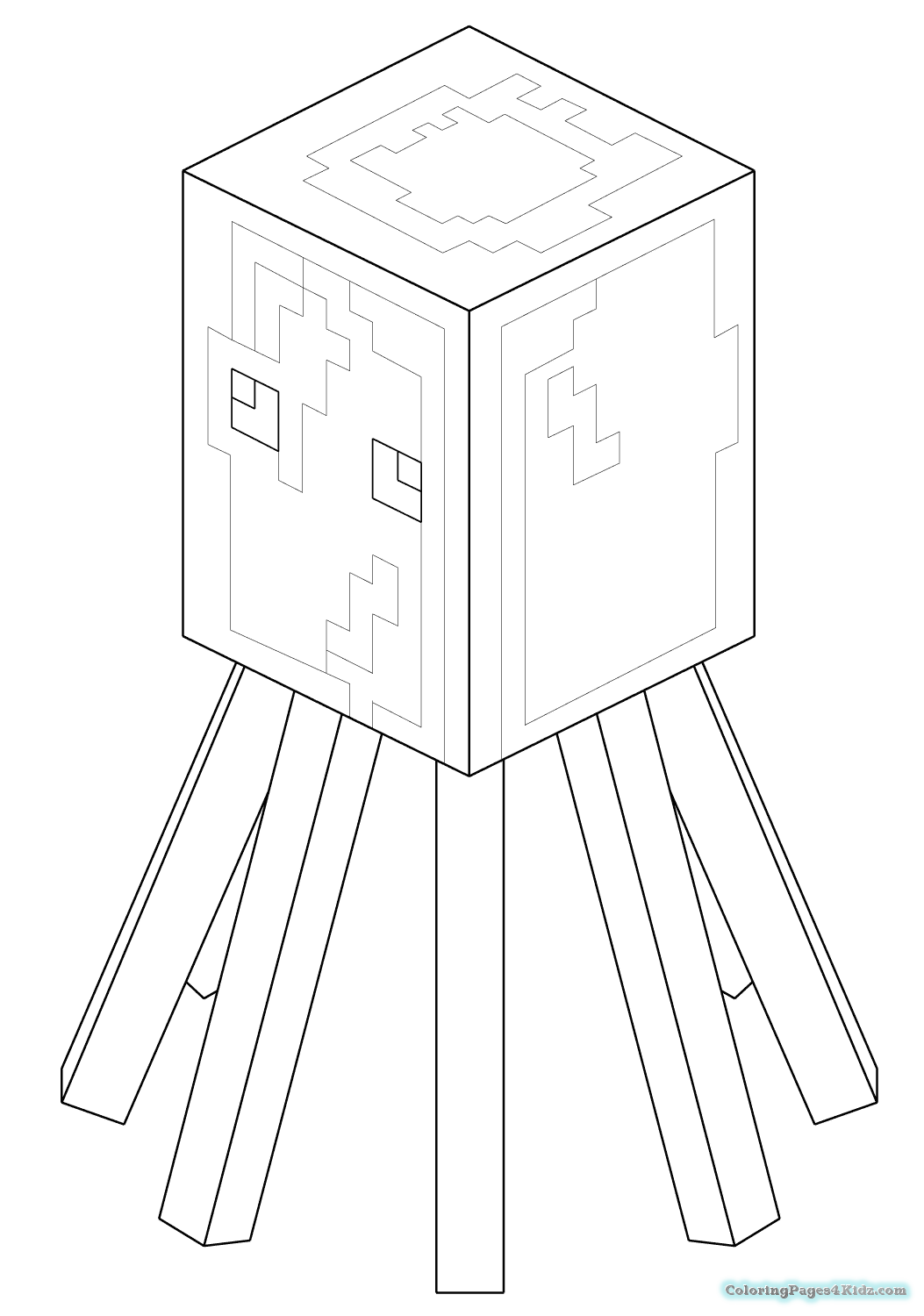 minecraft spider coloring pages minecraft spider drawing at getdrawings free download coloring minecraft pages spider