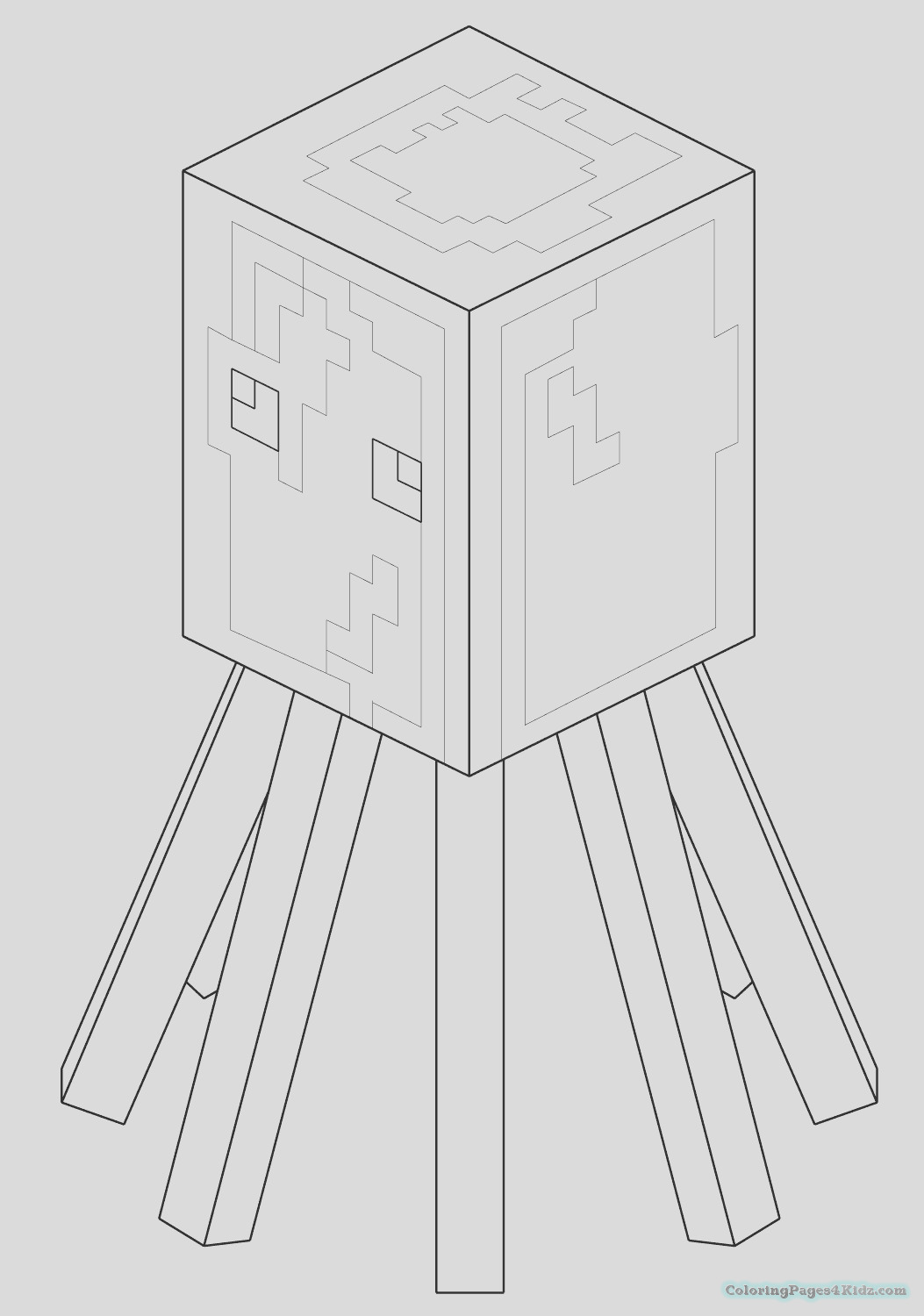 minecraft spider coloring pages print minecraft coloring kids spider coloring pages minecraft pages spider coloring