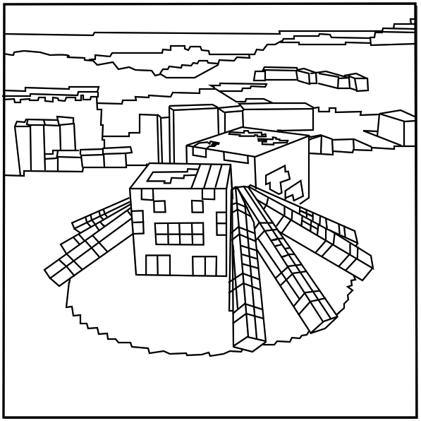 minecraft spider coloring pages printable minecraft spider coloring pages with images coloring pages minecraft spider