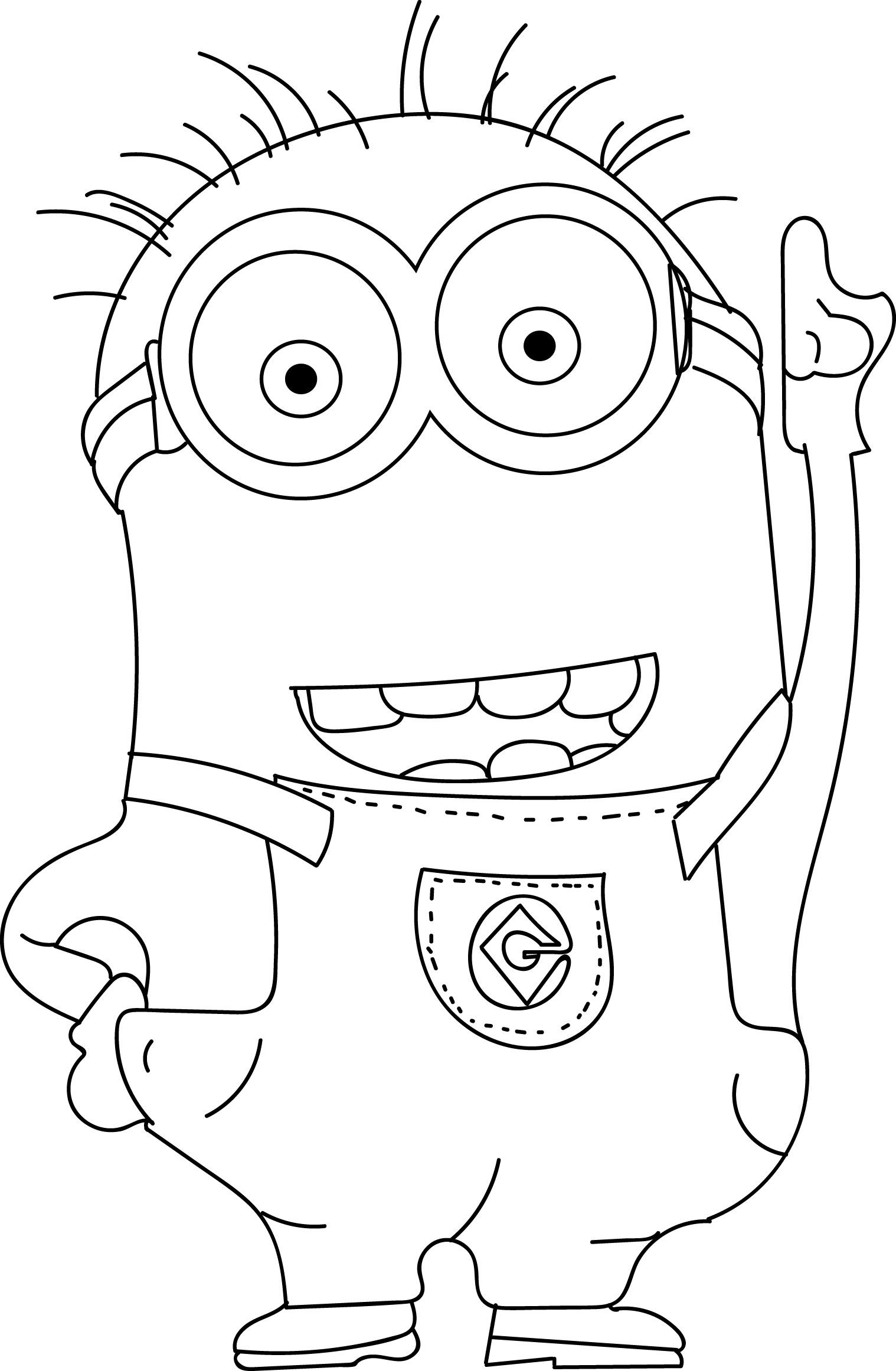 minion colouring page minion coloring pages best coloring pages for kids page colouring minion 1 2