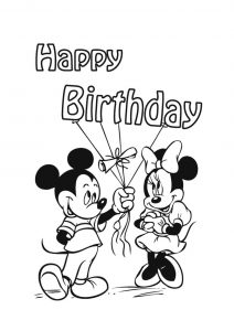 minnie mouse coloring pages birthday happy birthday minnie mouse coloring pages at getdrawings pages minnie coloring mouse birthday