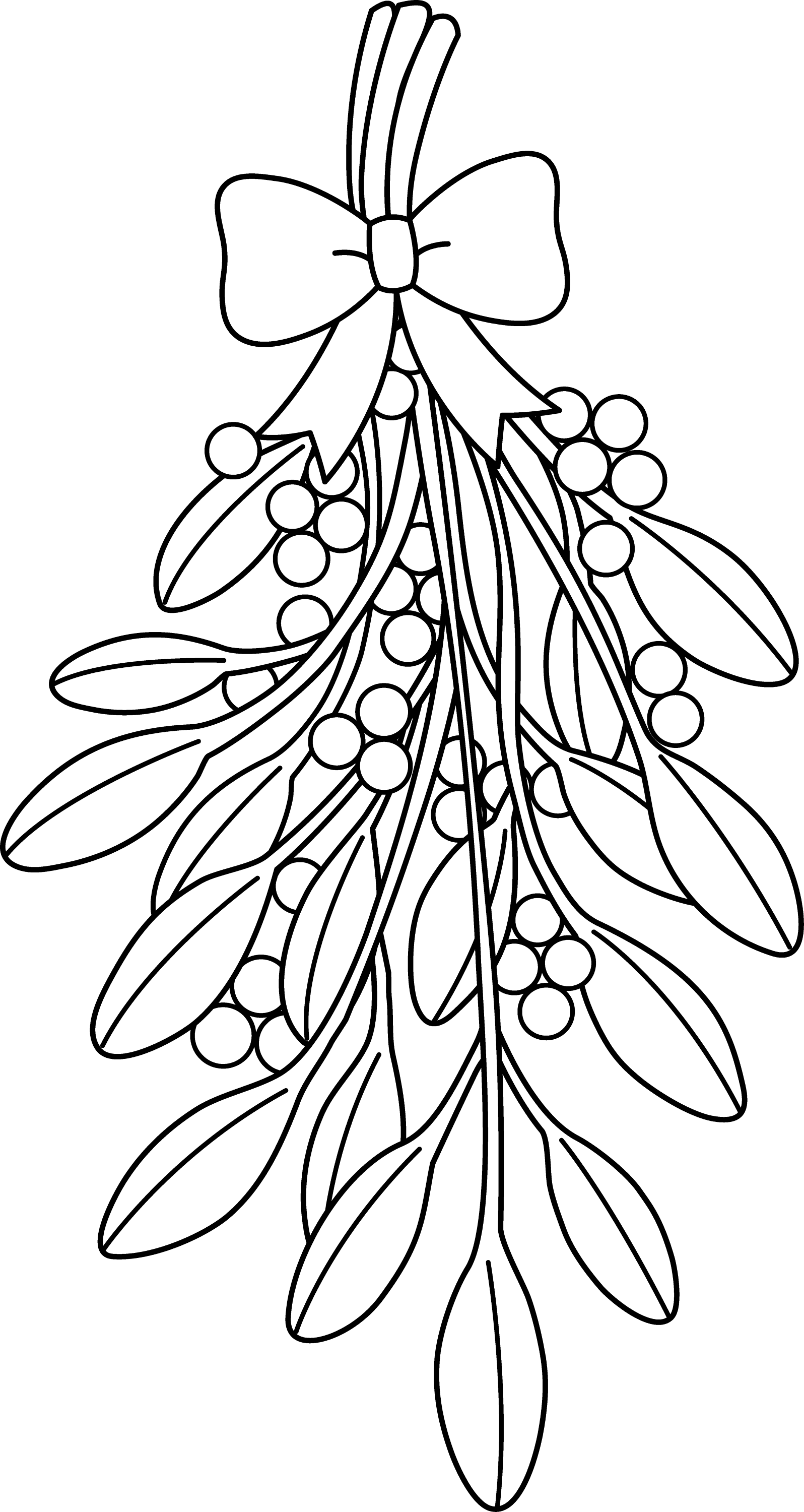 mistletoe coloring pages christmas mistletoe drawing at getdrawings free download pages coloring mistletoe
