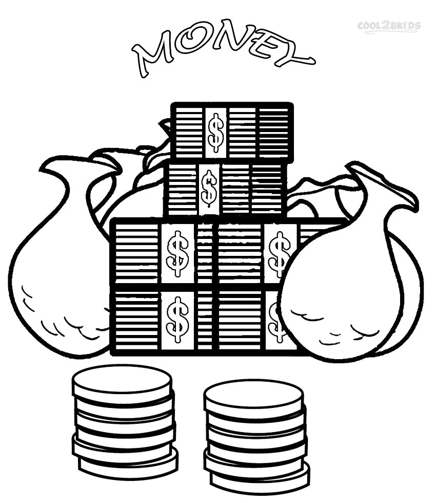 money coloring sheets money coloring pages to download and print for free sheets money coloring