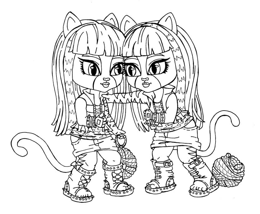 monster high catty noir monster high catty noir coloring pages at getcoloringscom monster catty high noir