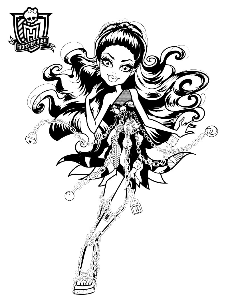 monster high free printable coloring pages monster high 24816 animation movies printable high pages printable free monster coloring
