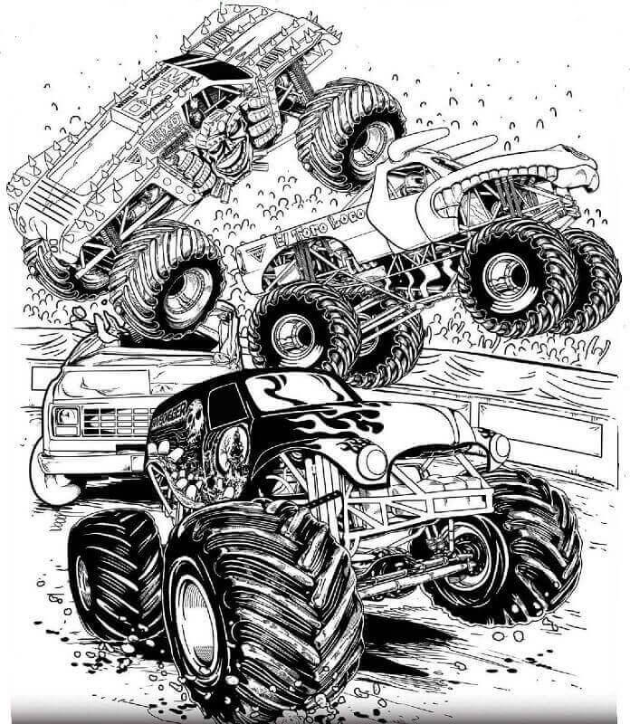 monster jam pictures to color free printable monster jam coloring pages monster mutt pictures to monster color jam