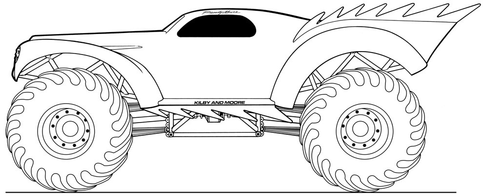 monster jam pictures to color rislone defender monster jam coloring pages color luna color to pictures jam monster