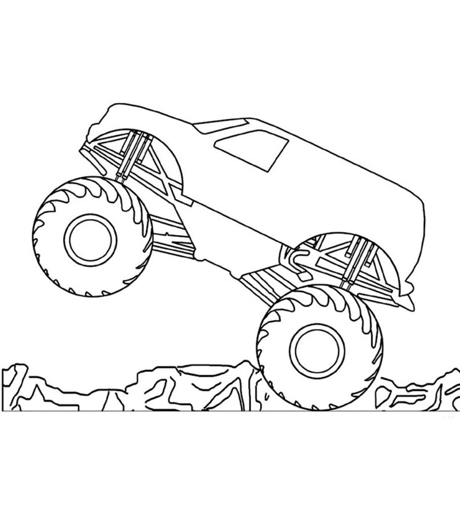 monster truck coloring page blue thunder monster truck coloring page kids play color coloring monster truck page