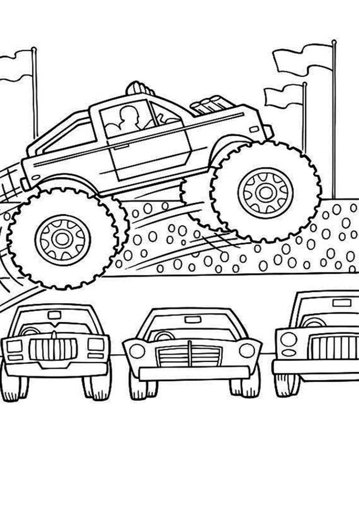 monster truck coloring page drawing monster truck coloring pages with kids page monster coloring truck