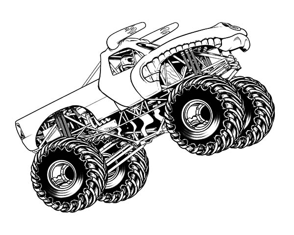 monster truck coloring page free printable monster jam coloring pages coloring home monster page truck coloring