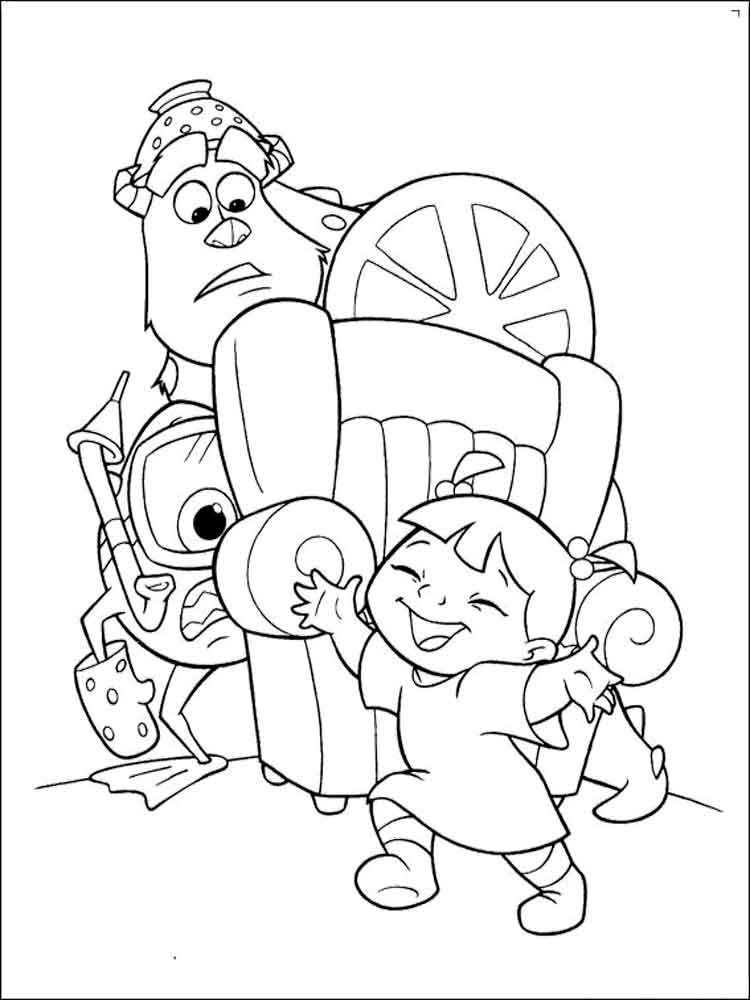 monsters inc coloring coloring pages monsters inc40 cartoons gt monsters inc inc monsters coloring