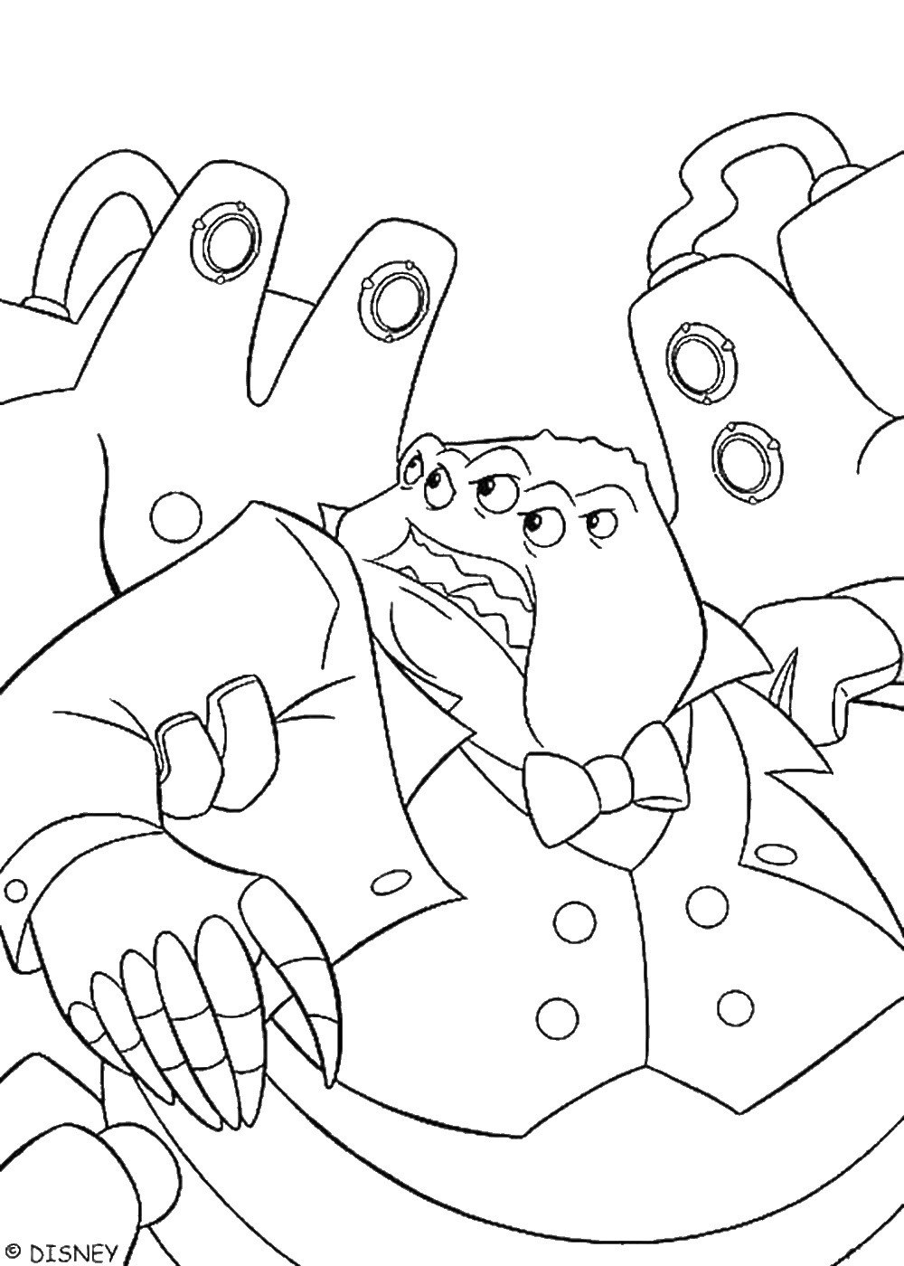 monsters inc coloring mike wazowski coloring page at getcoloringscom free coloring inc monsters