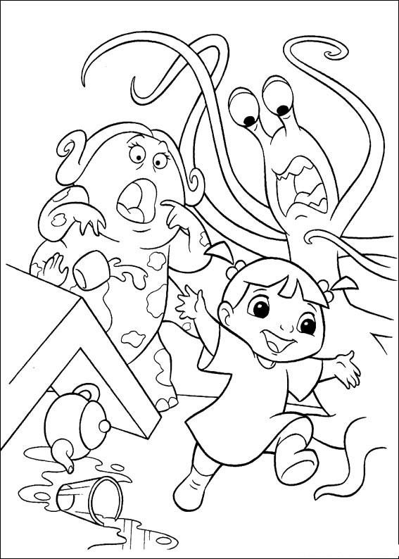 monsters inc coloring sulley and boo monsters inc coloring pages coloring sheets coloring inc monsters