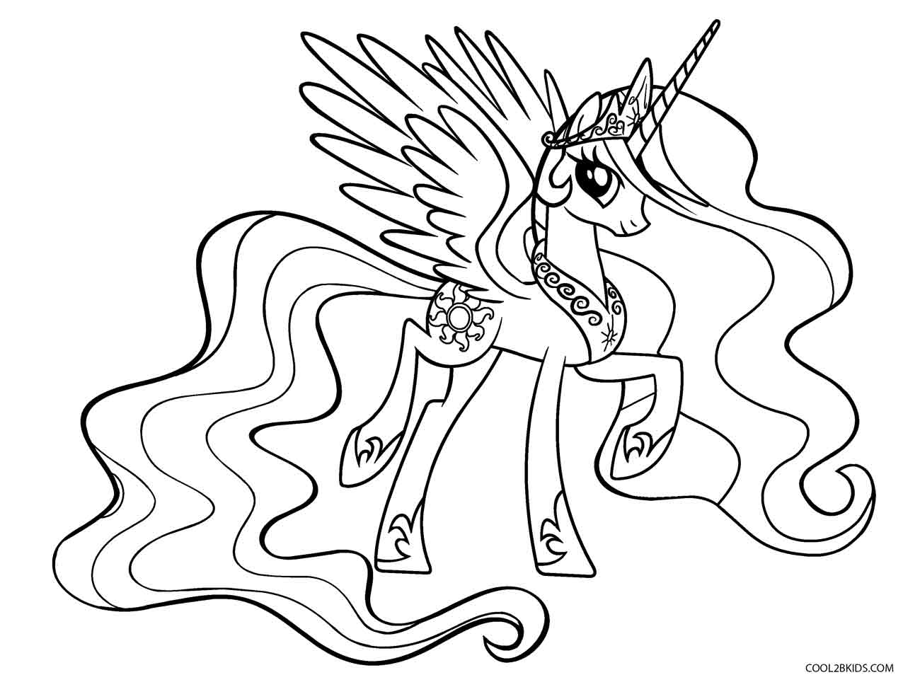 my little pony princess pictures free printable my little pony coloring pages for kids my princess pony pictures little