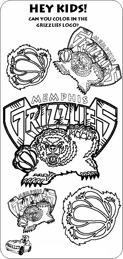 nba logos coloring pages color the grizzlies logos the official site of the pages logos coloring nba