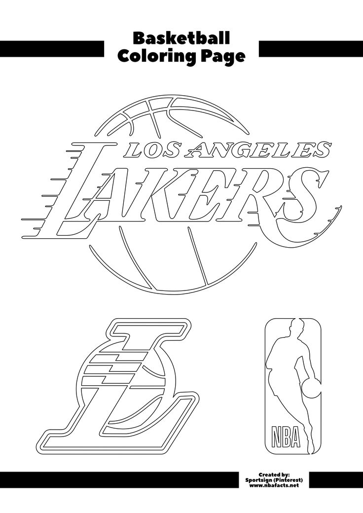 nba logos coloring pages los angeles lakers free coloring page in 2020 nba nba coloring pages nba logos