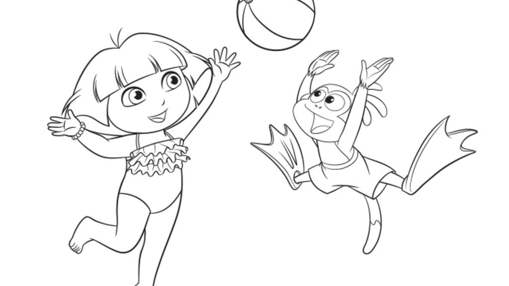 nickelodeon ryan coloring pages dora the explorerdora and boots beach colour colouring ryan coloring nickelodeon pages