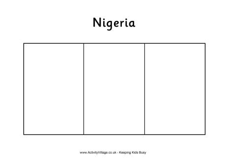 nigeria flag template coloring page flag of nigeria drawing outline flag nigeria template
