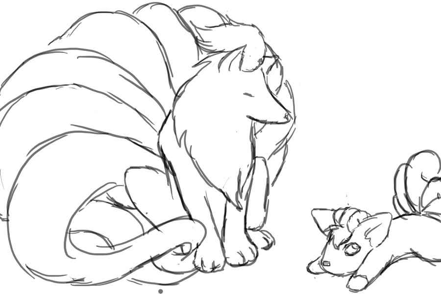 ninetails pokemon coloring pages ninetales coloring pages at getcoloringscom free pages pokemon ninetails coloring