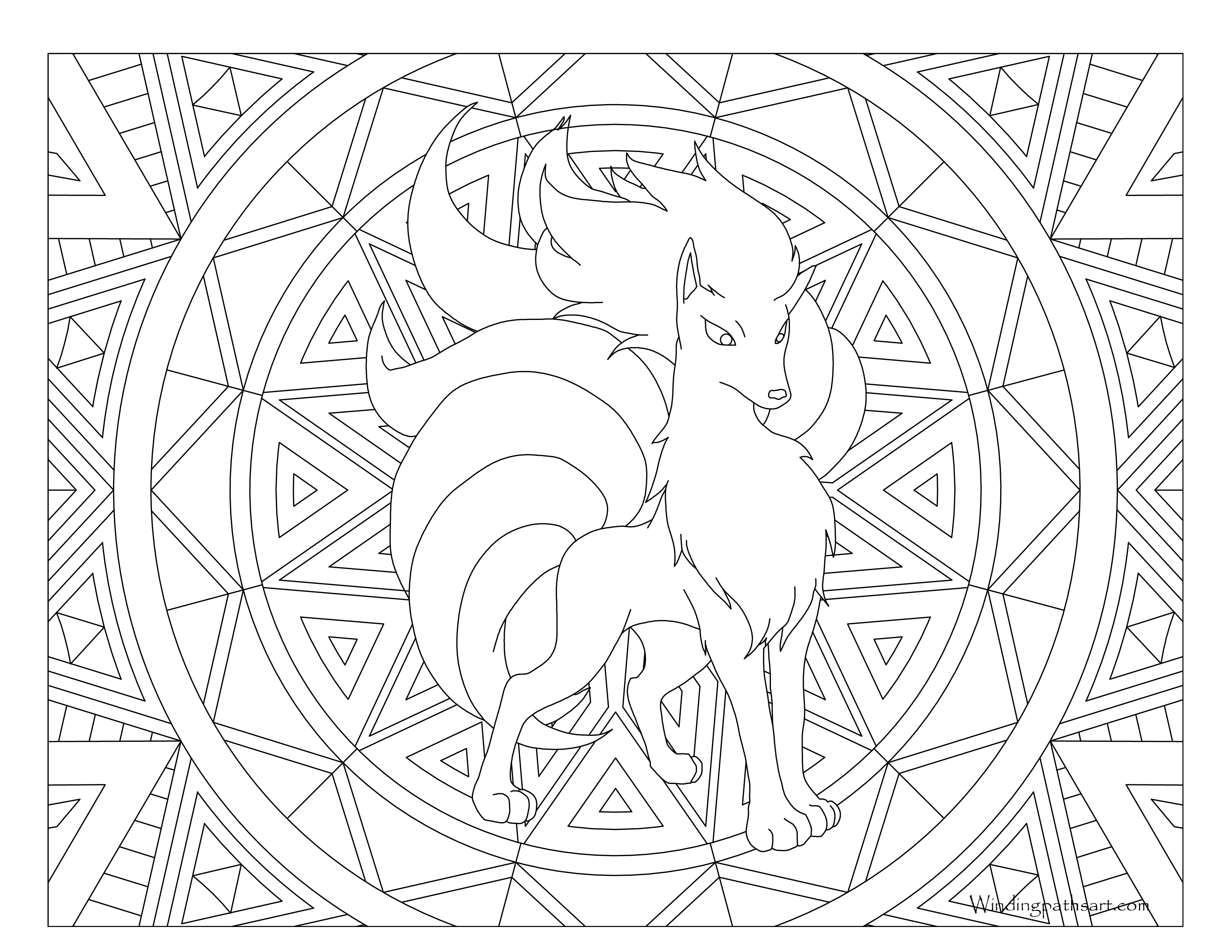 ninetails pokemon coloring pages pokemon coloring pages ninetales pokemon coloring pokemon ninetails coloring pages