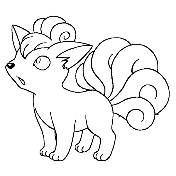 ninetails pokemon coloring pages pokemon ninetales coloring pages hd football coloring ninetails pokemon pages