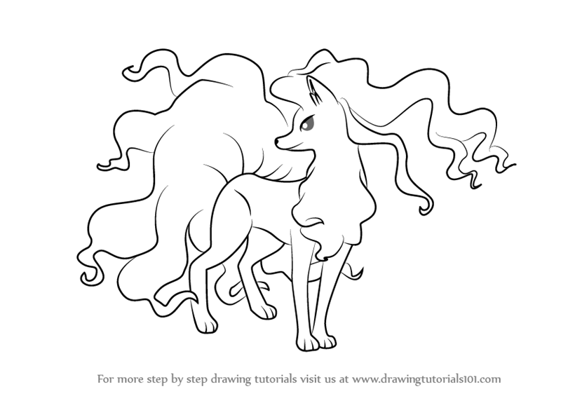 ninetails pokemon coloring pages vulpix drawing at getdrawings free download pages coloring pokemon ninetails