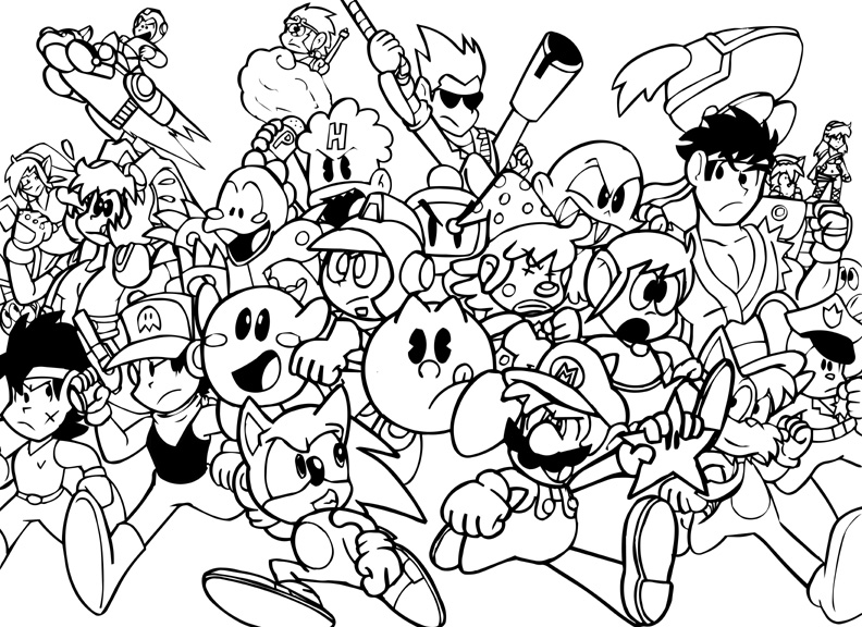 nintendo characters coloring pages nintendo characters coloring pages at getdrawings free pages characters nintendo coloring