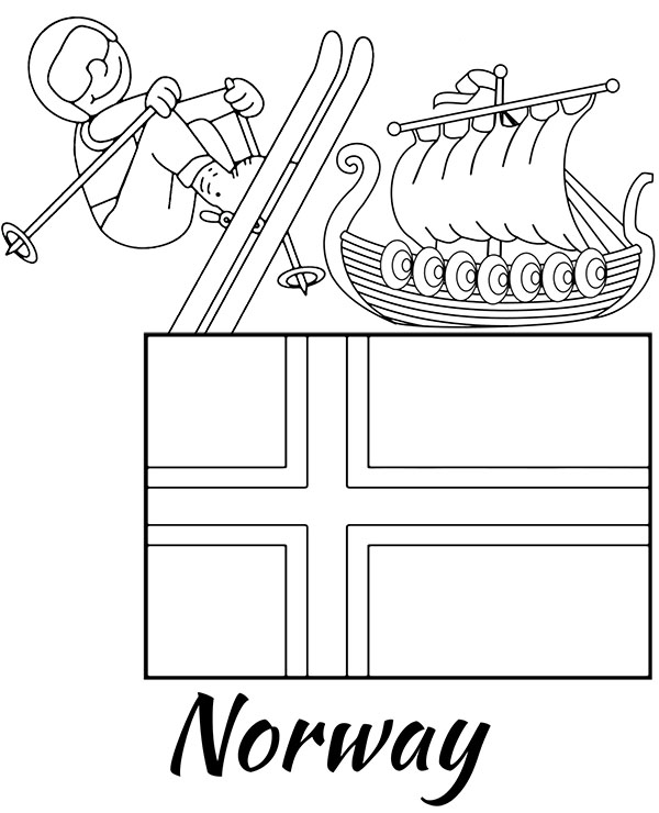 norway flag coloring page coloring picture of norway flag norway pinterest page norway coloring flag