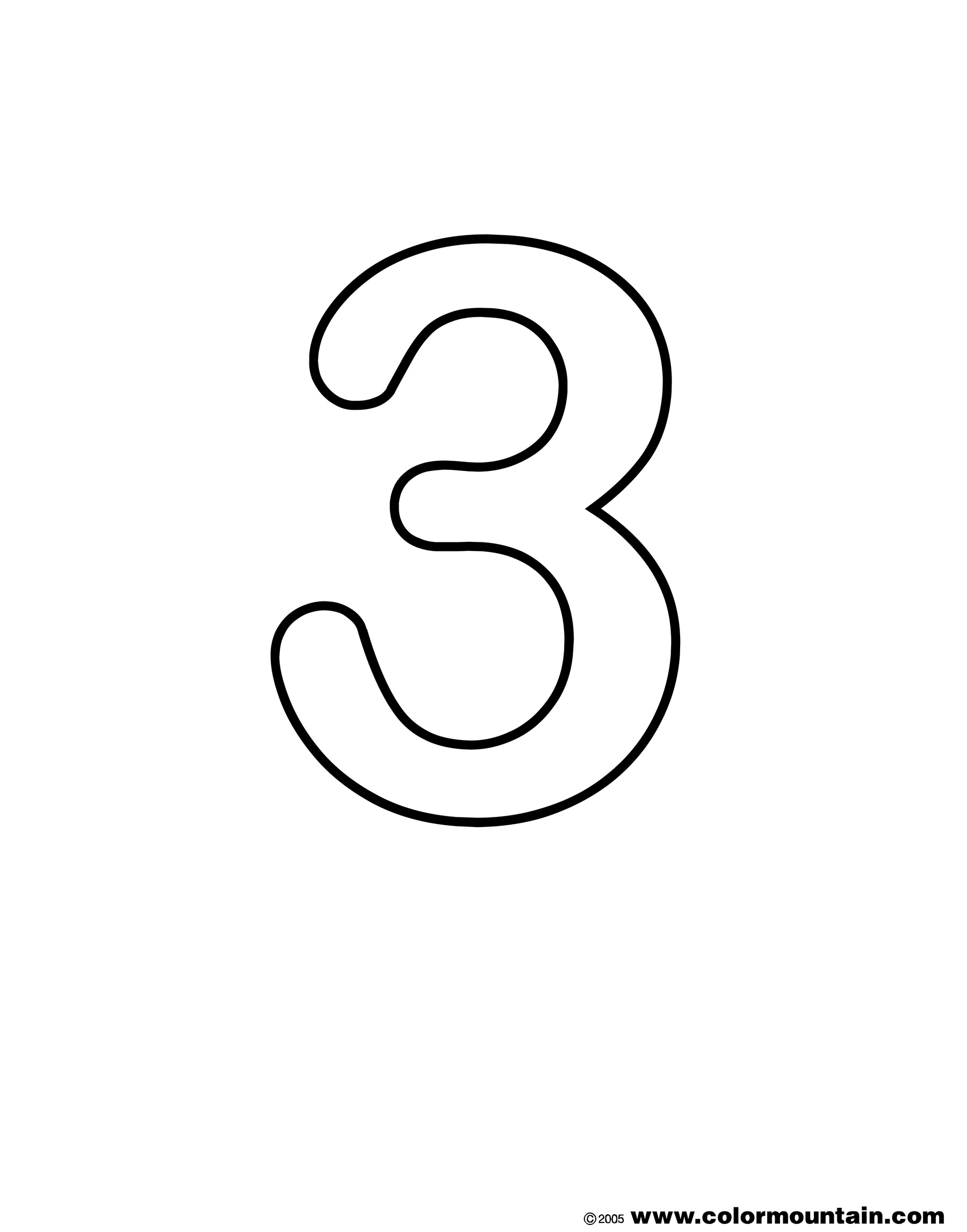 number 3 coloring worksheets number three coloring sheet create a printout or activity 3 coloring number worksheets