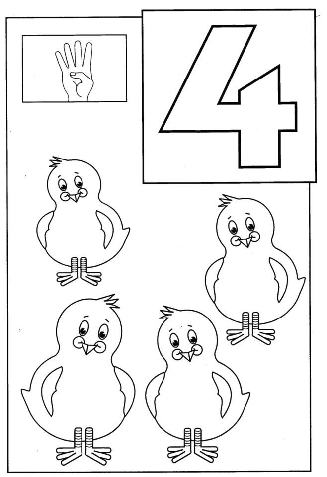 number 4 coloring four coloring page coloring page 4 coloring number