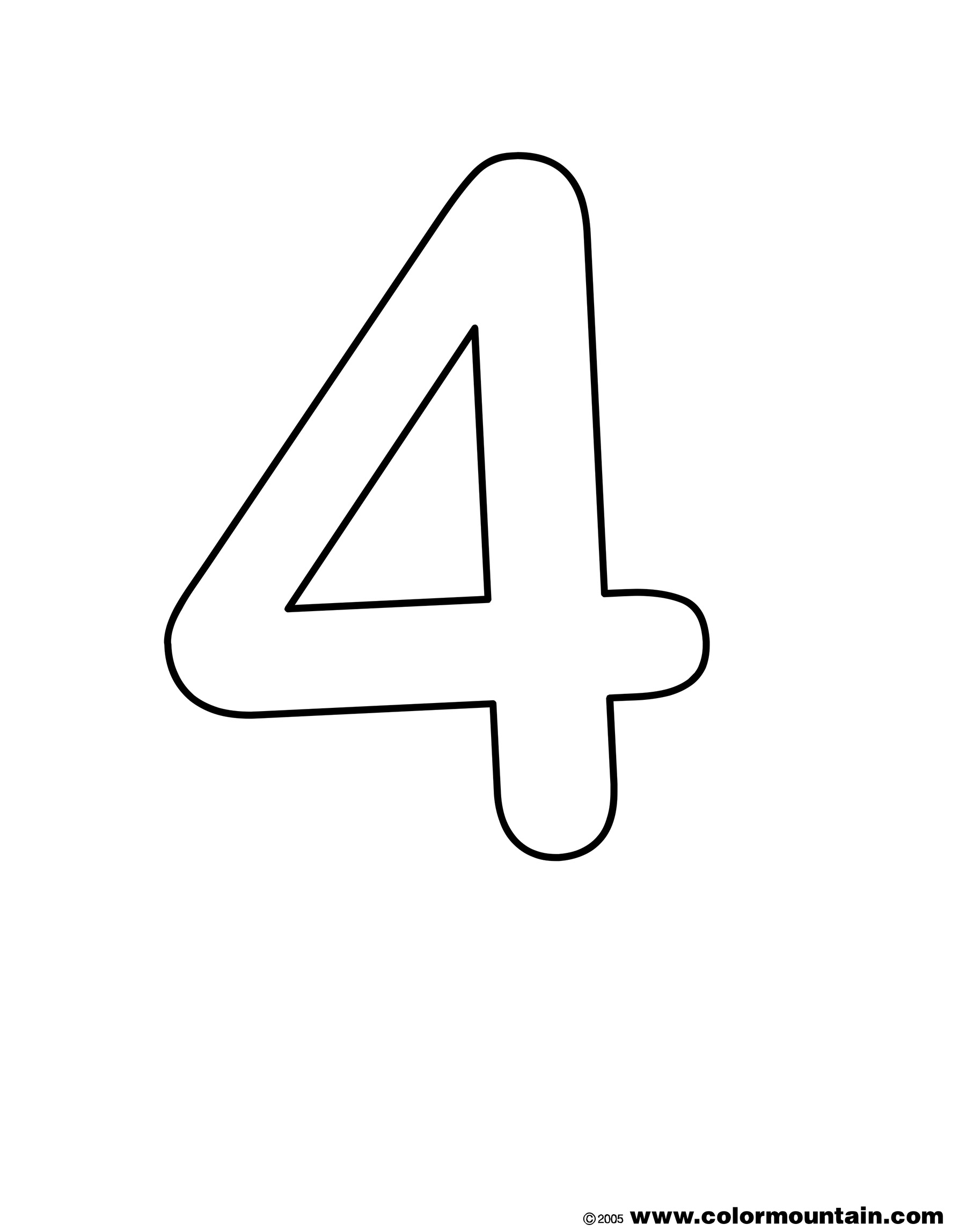 number 4 coloring get this number 4 coloring page 4514a coloring 4 number