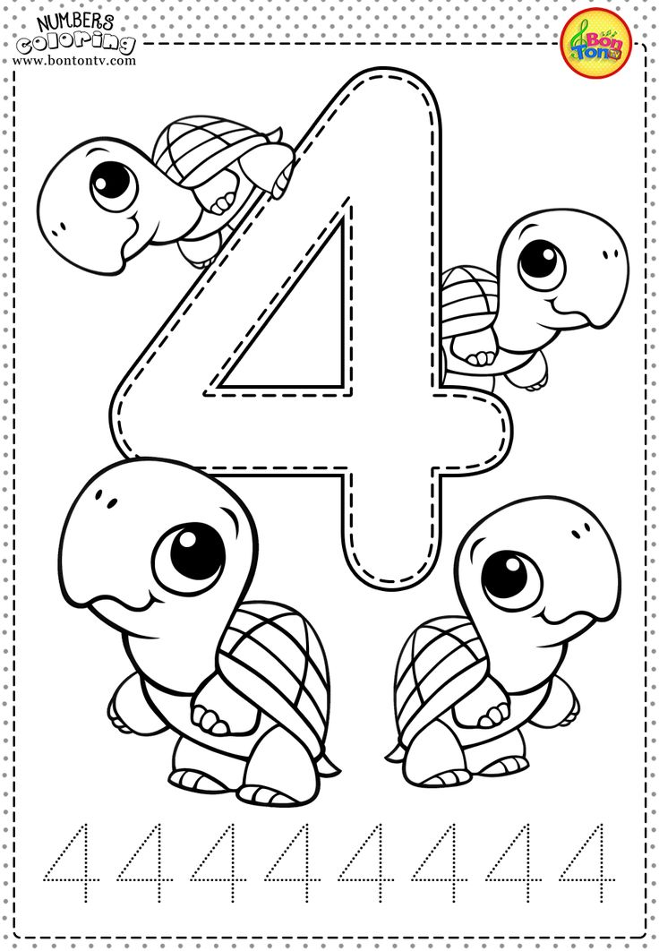 number 4 coloring number 4 coloring pages printable in 2020 preschool coloring number 4