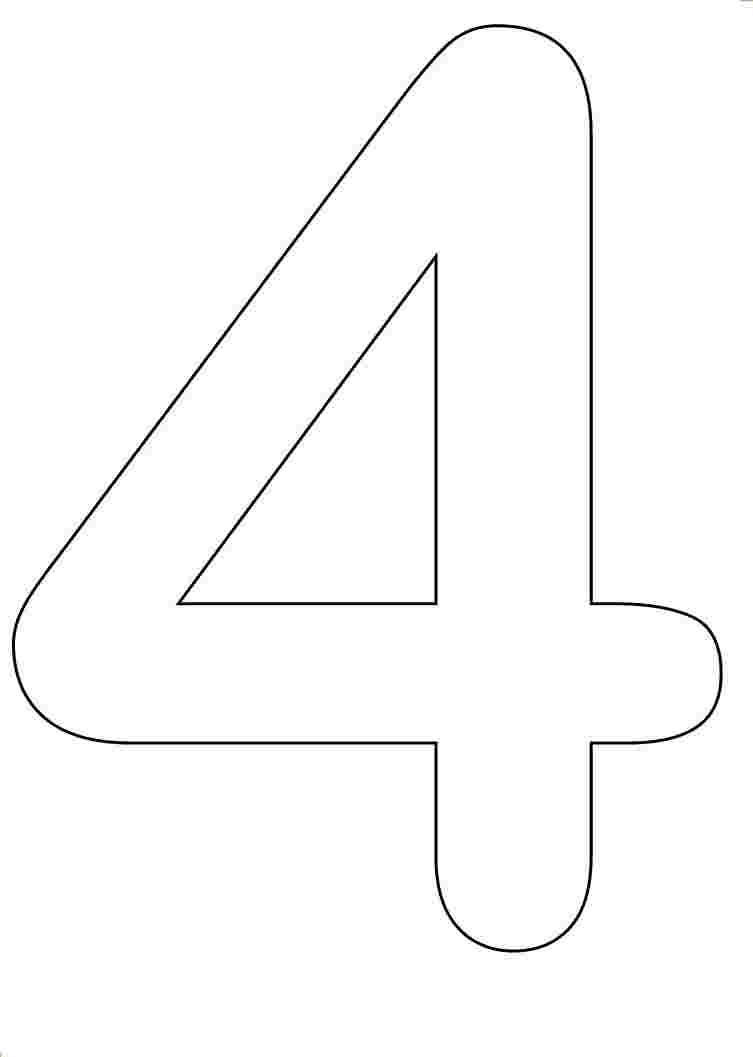 number 4 coloring pictures of number 4 clipartsco number 4 coloring