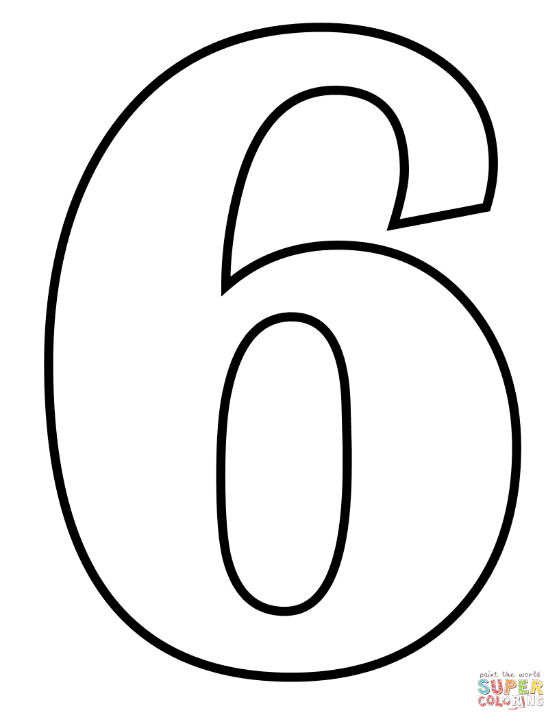 number 6 coloring pages number 6 coloring page free printable coloring pages 6 number pages coloring