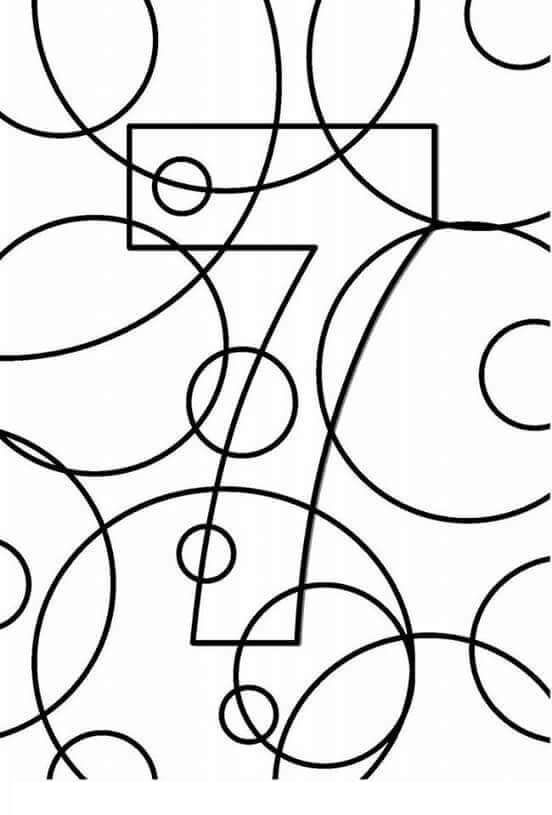number 7 coloring pages for preschoolers dibujo de número 7 para colorear dibujos para colorear pages number preschoolers 7 for coloring