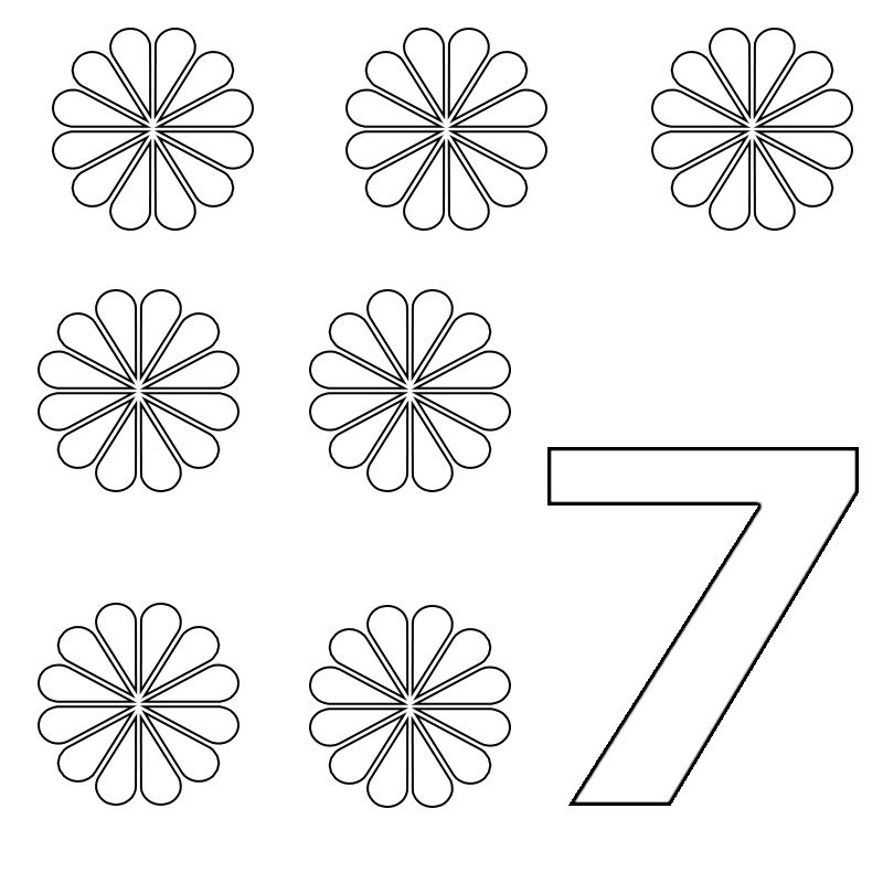 number 7 coloring pages for preschoolers number 7 coloring pages for preschoolersfor toddlers preschoolers for number coloring 7 pages
