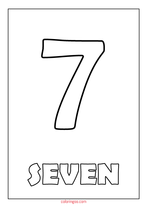 number 7 coloring pages for preschoolers numbers 7 coloring pages to print coloring pages to for preschoolers pages number 7 coloring