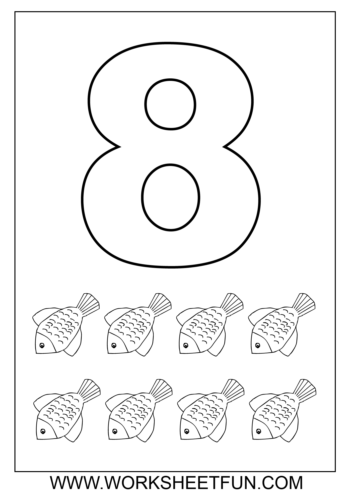 number 8 coloring pages 8 1 coloring pages kidsuki pages 8 coloring number