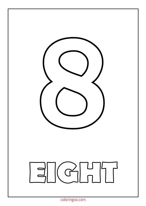 number 8 coloring pages coloring pages of number 8 coloring pages pages 8 coloring number