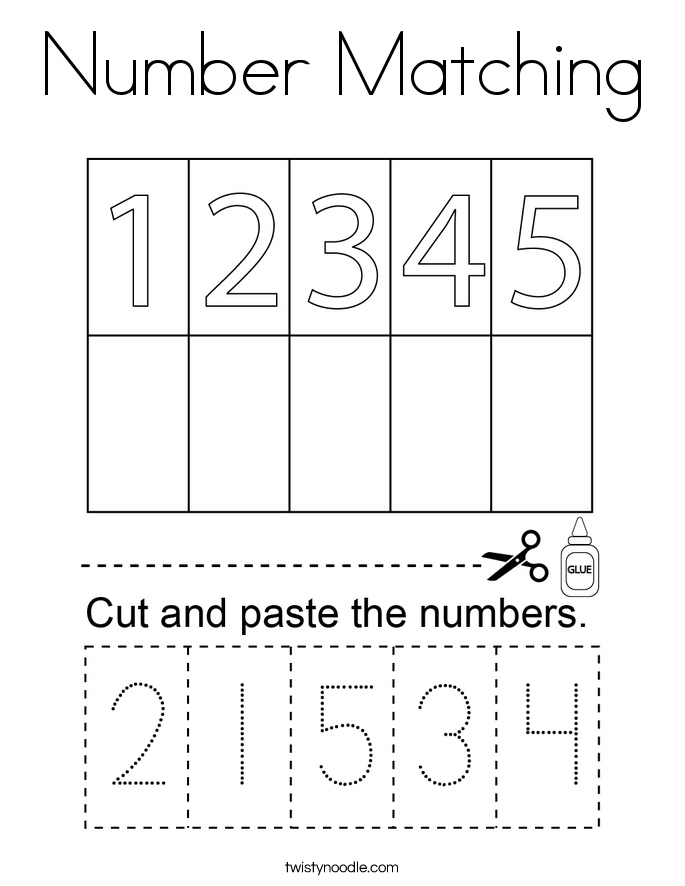 number matching coloring pages balloon number matching coloring page cursive twisty matching coloring pages number