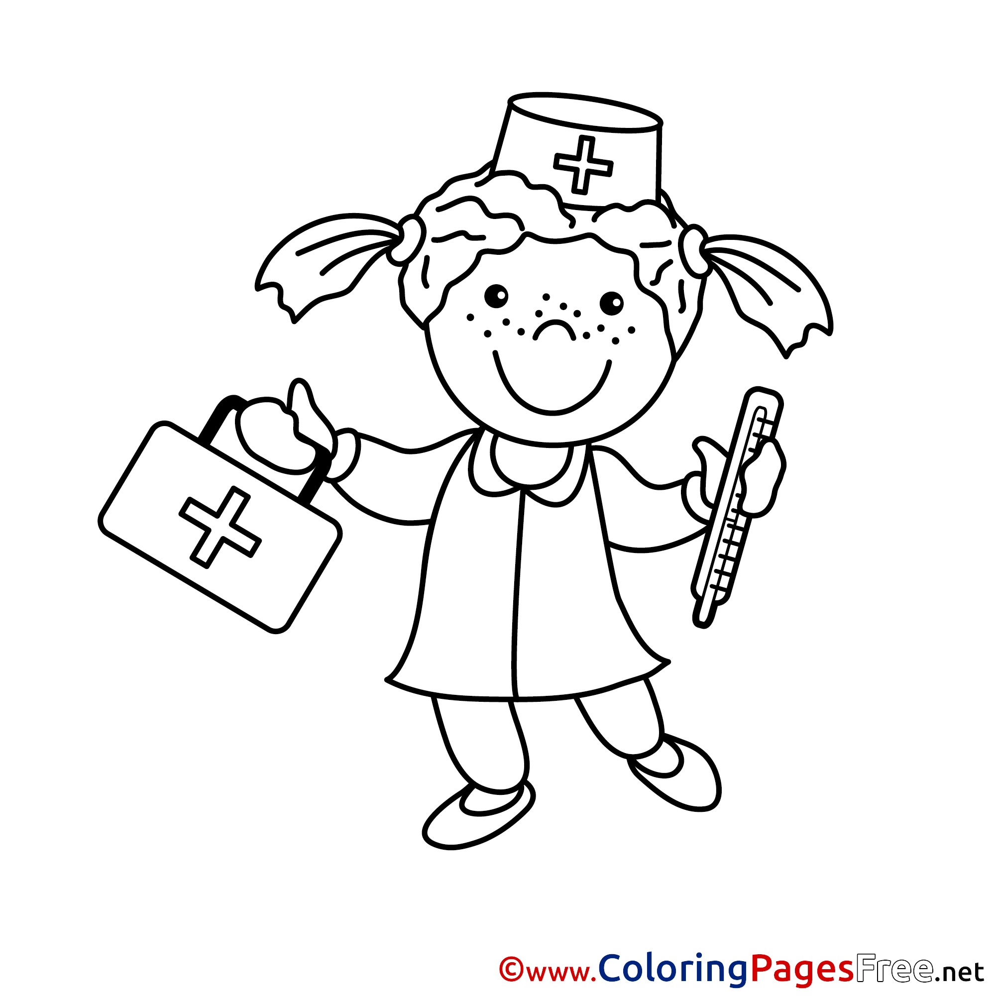 nurse coloring pages doctor coloring pages getcoloringpagescom nurse coloring pages