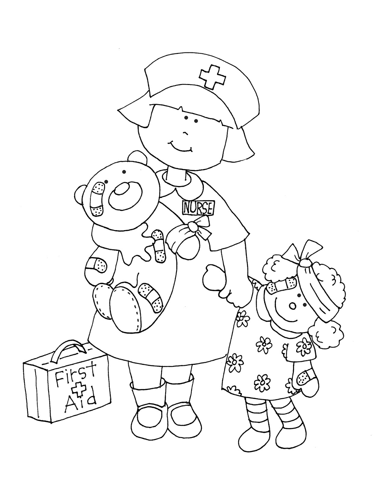 nurse coloring pages free pictures of nurses for kids download free clip art pages nurse coloring