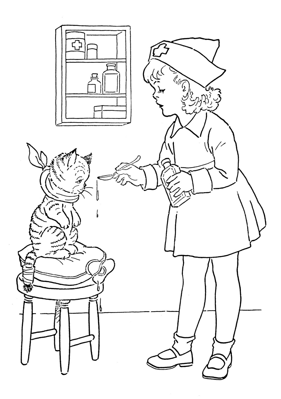 nurse coloring pages nurse coloring pages for preschool at getcoloringscom pages coloring nurse